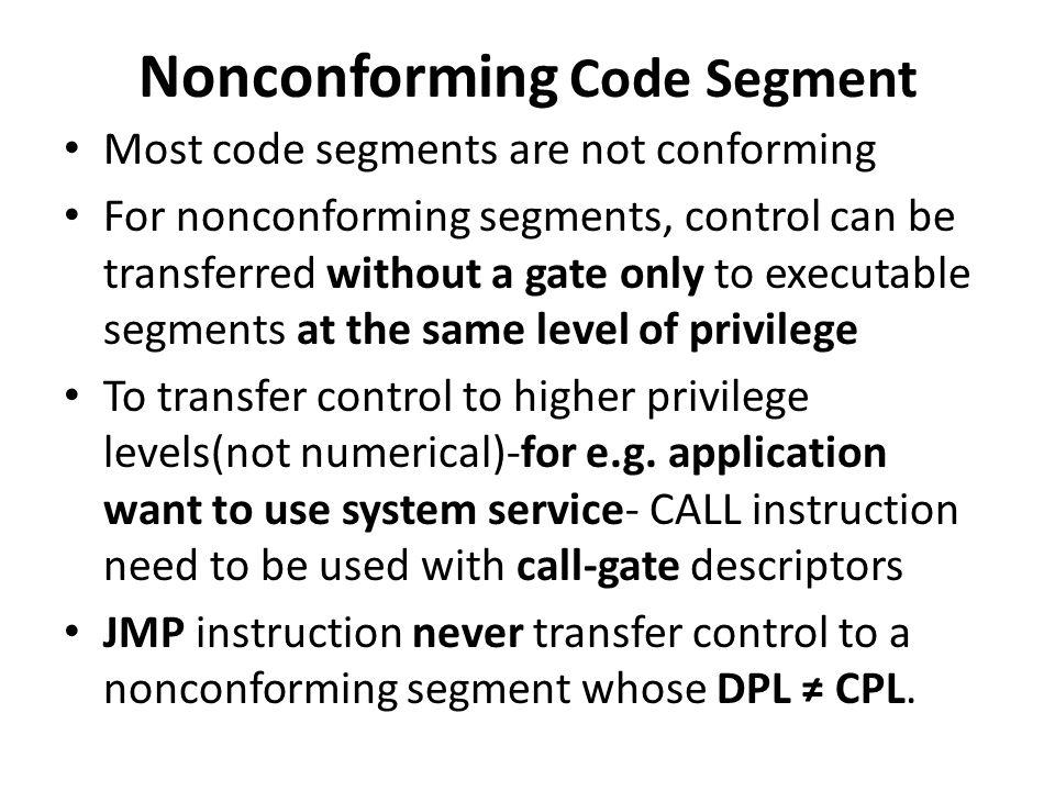 Nonconforming Code Segment