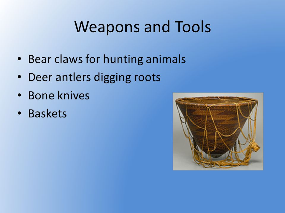 Weapons and Tools Bear claws for hunting animals