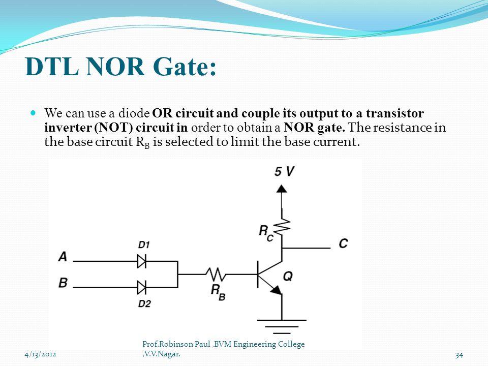 DTL NOR Gate: