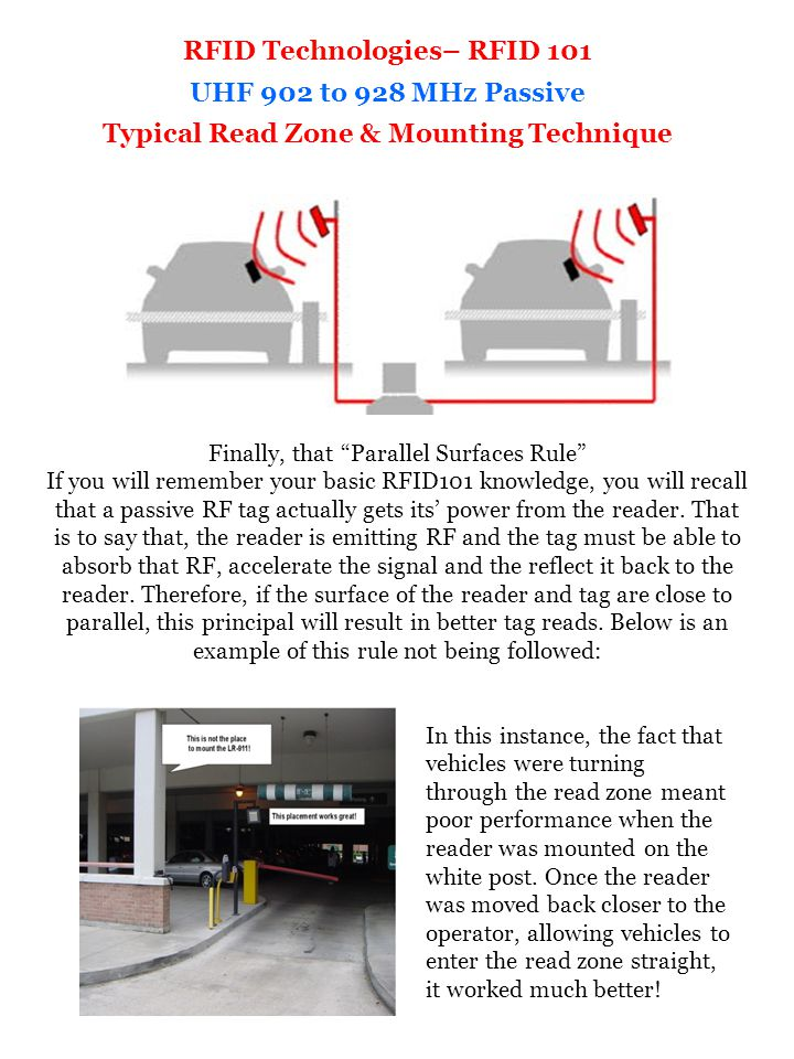 RFID Technologies– RFID 101 Typical Read Zone & Mounting Technique