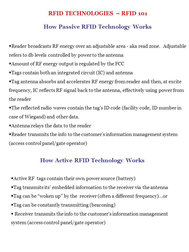 RFID TECHNOLOGIES – RFID 101 How Passive RFID Technology Works