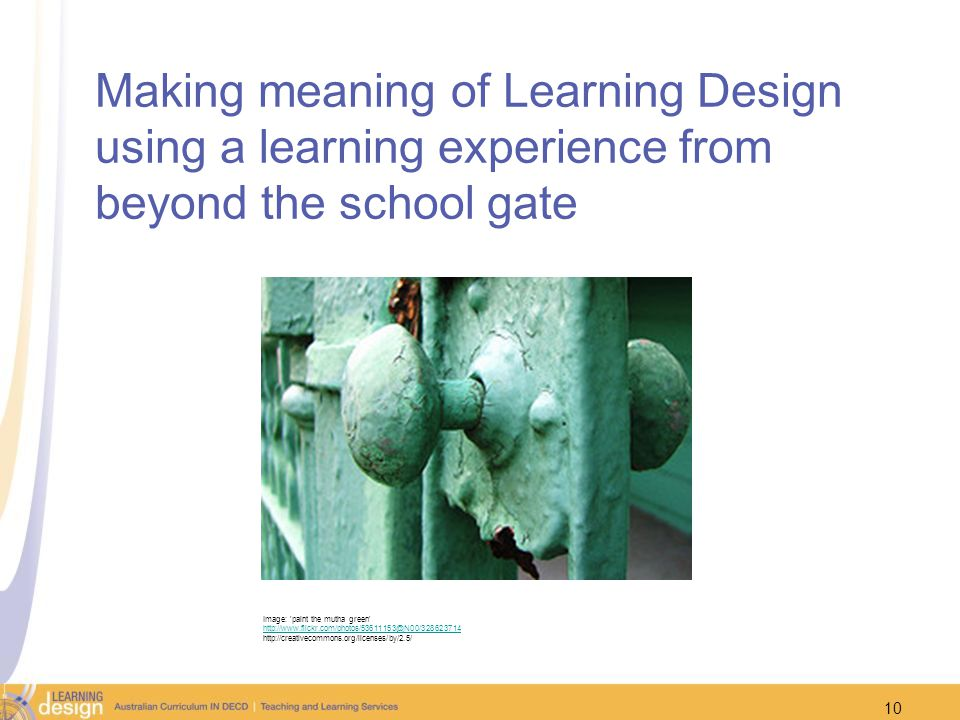 Making meaning of Learning Design using a learning experience from beyond the school gate