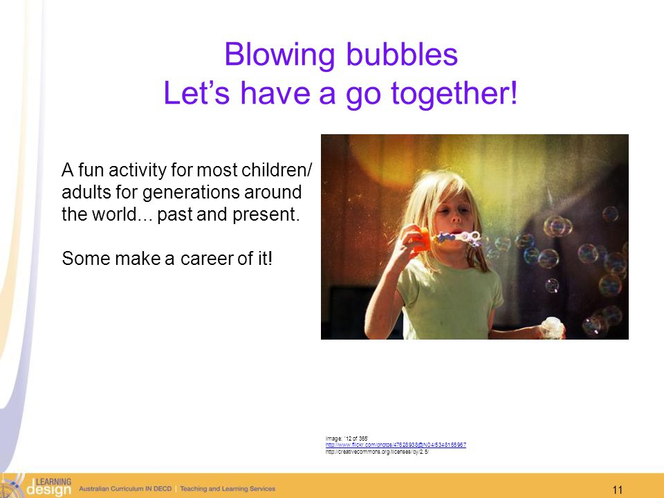 Blowing bubbles Let's have a go together!