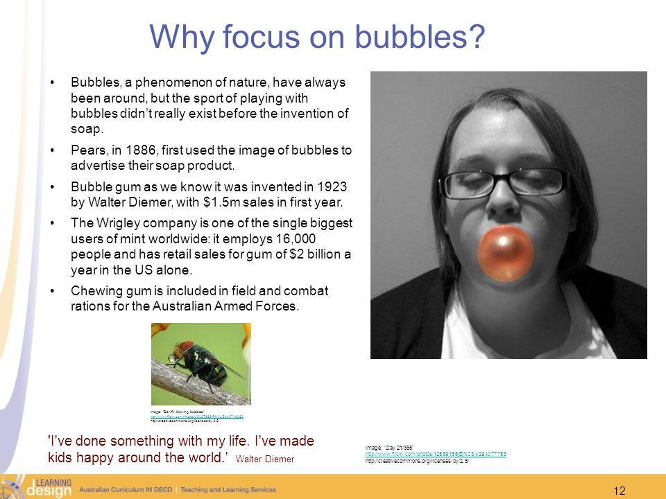 Why focus on bubbles