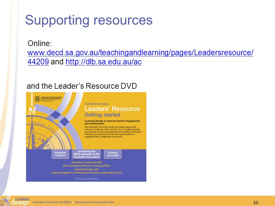 Supporting resources Online: