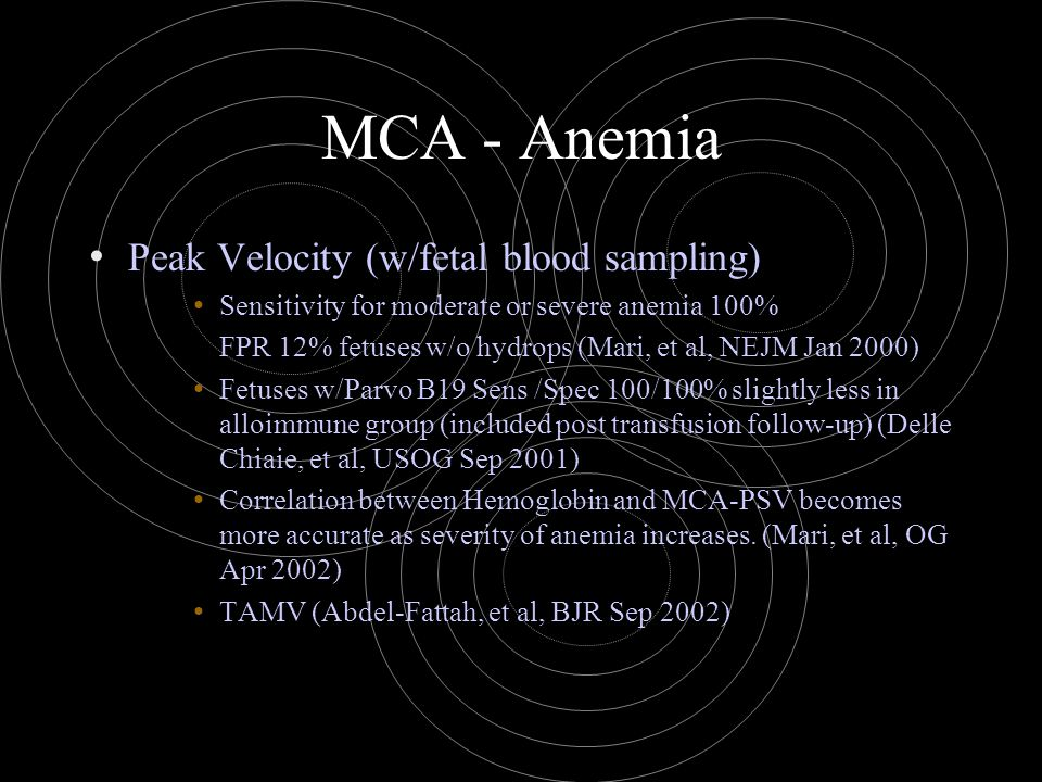 MCA - Anemia Peak Velocity (w/fetal blood sampling)