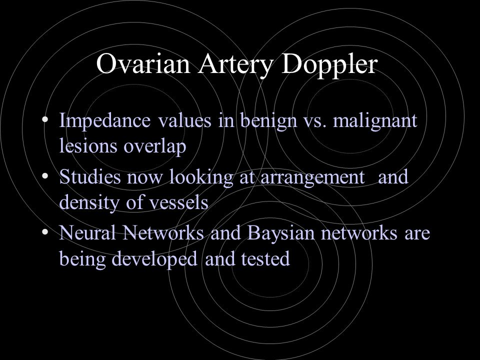 Ovarian Artery Doppler