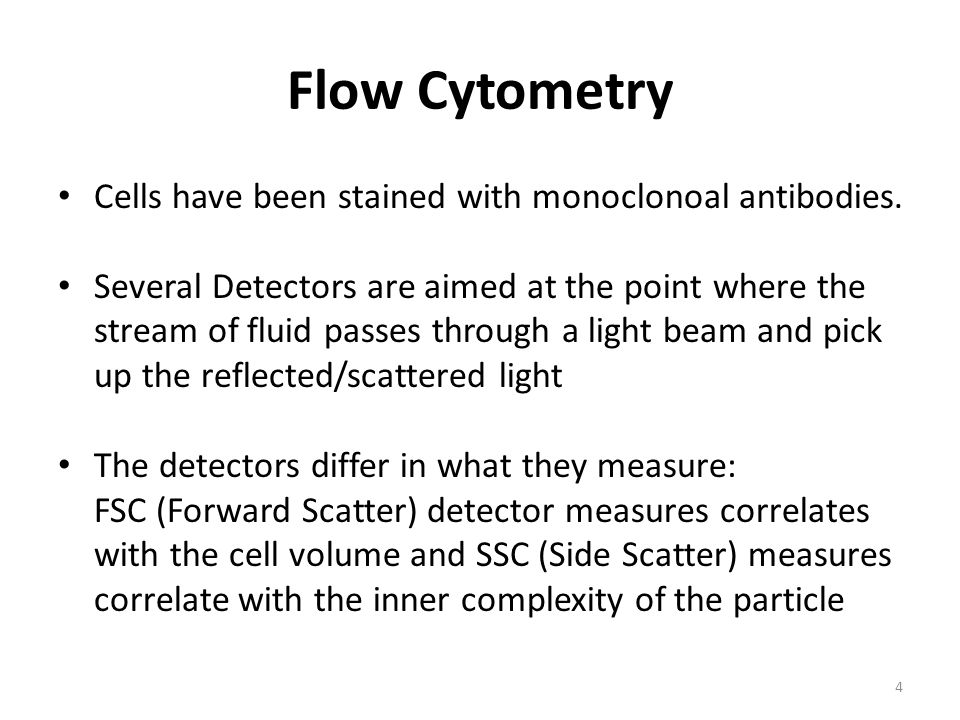 Flow Cytometry Cells have been stained with monoclonoal antibodies.