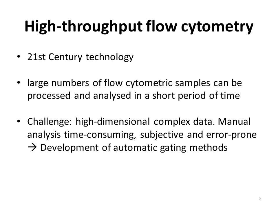 High-throughput flow cytometry
