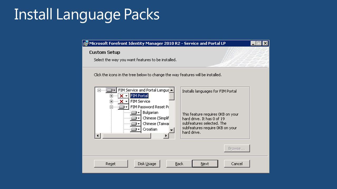 Install Language Packs