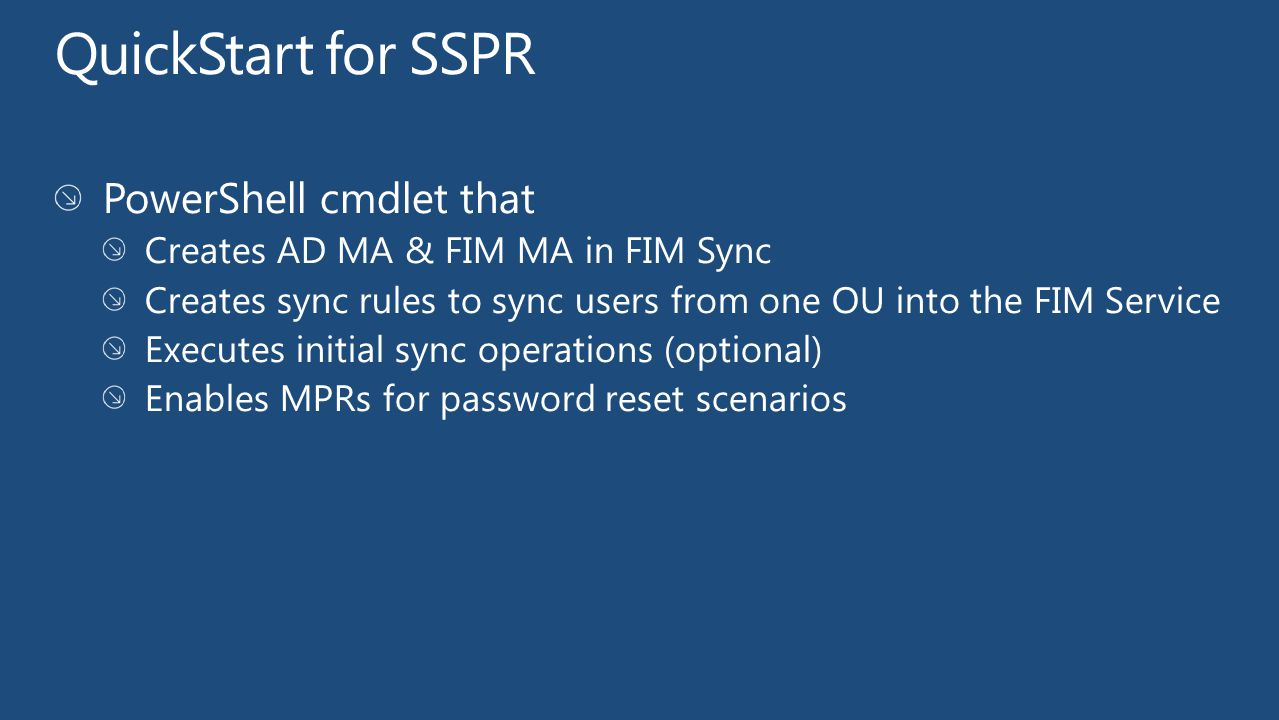 QuickStart for SSPR PowerShell cmdlet that