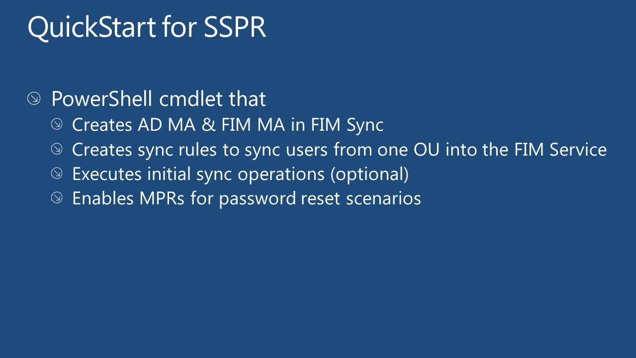 QuickStart for SSPR PowerShell cmdlet that