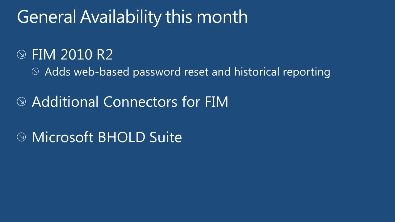 General Availability this month