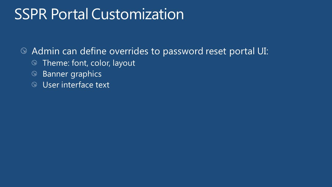 SSPR Portal Customization