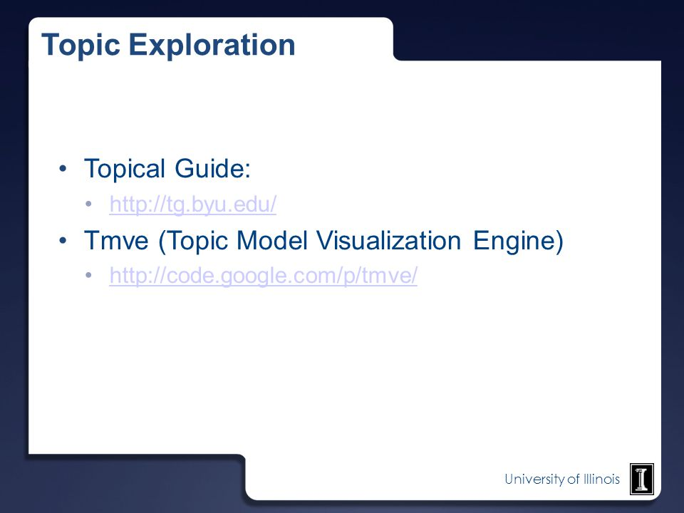 Topic Exploration Topical Guide: