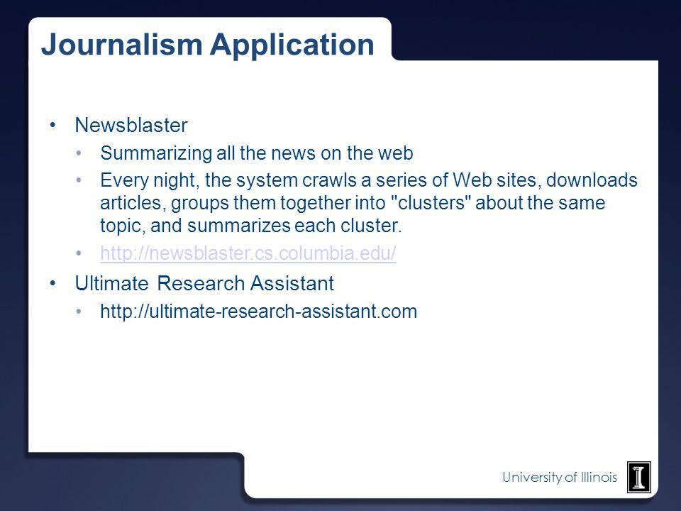 Journalism Application