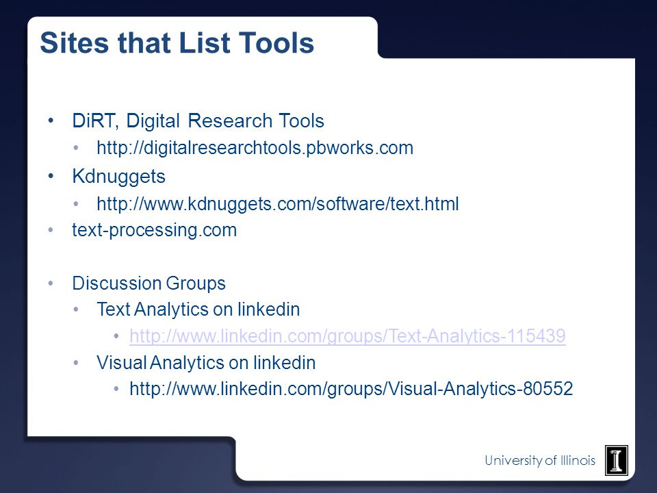 Sites that List Tools DiRT, Digital Research Tools Kdnuggets
