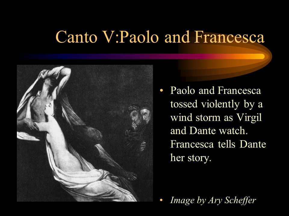 Canto V:Paolo and Francesca