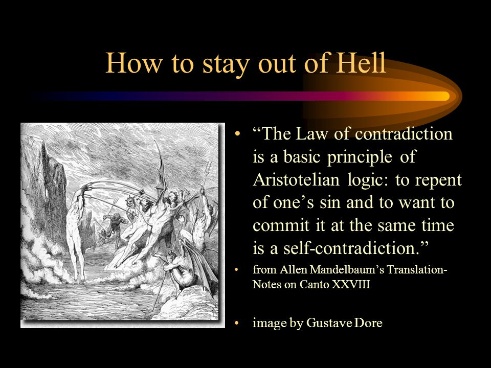 How to stay out of Hell
