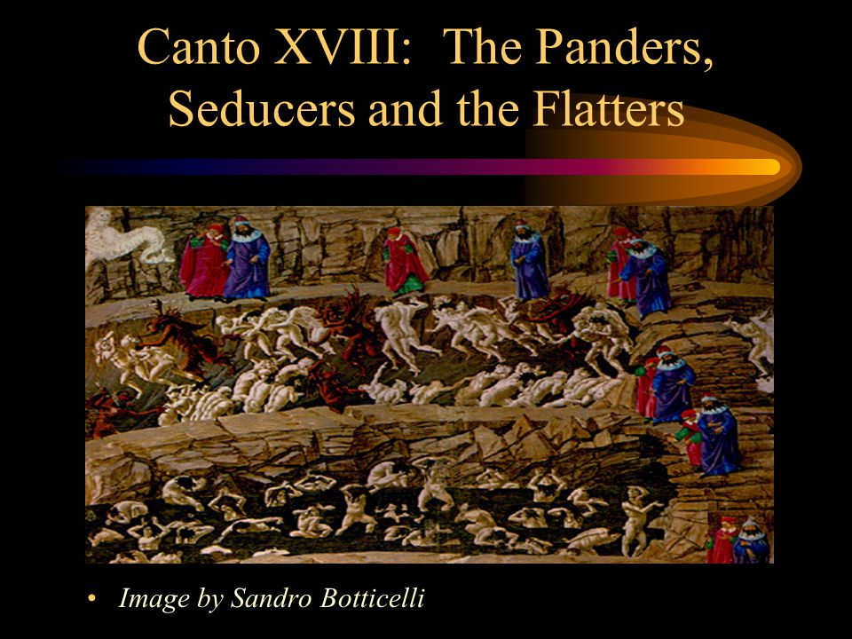 Canto XVIII: The Panders, Seducers and the Flatters