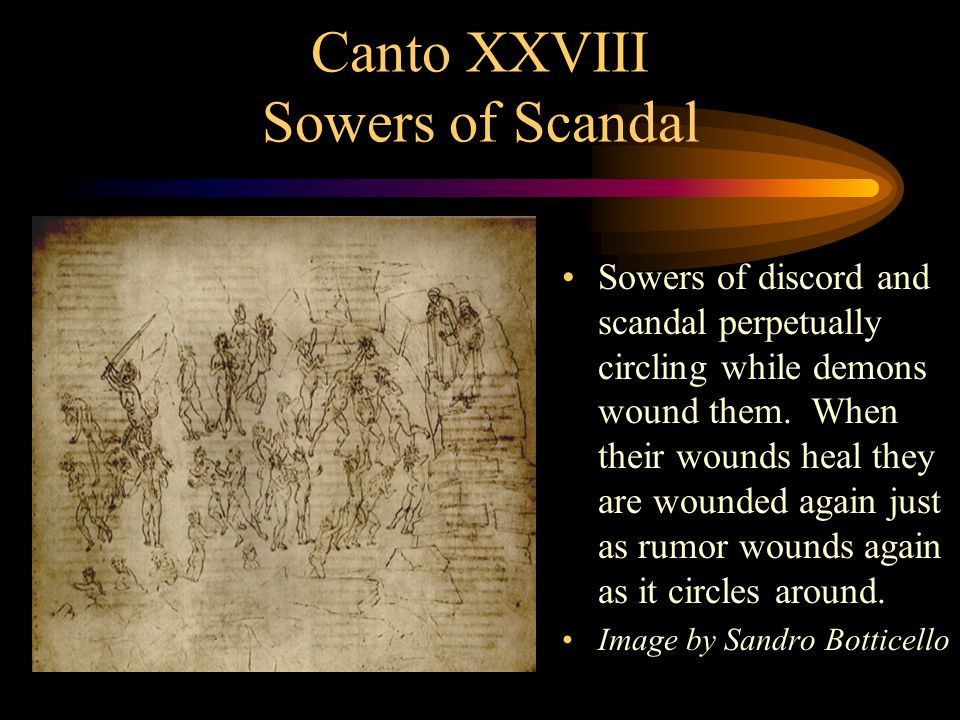 Canto XXVIII Sowers of Scandal
