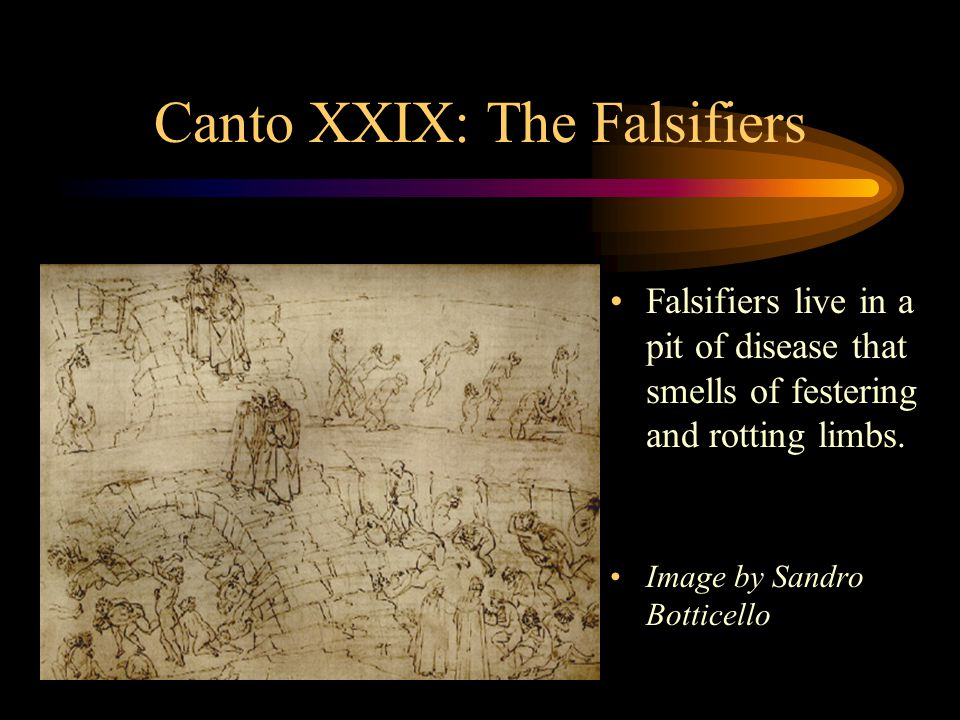 Canto XXIX: The Falsifiers