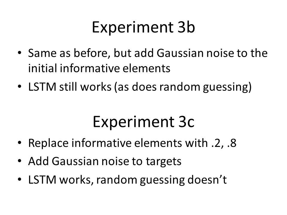 Experiment 3b Experiment 3c