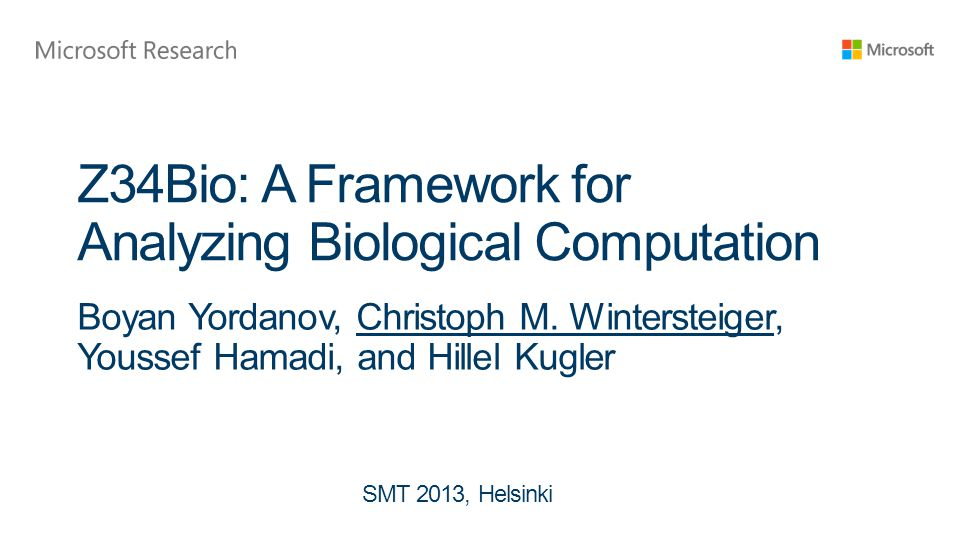 Z34Bio: A Framework for Analyzing Biological Computation