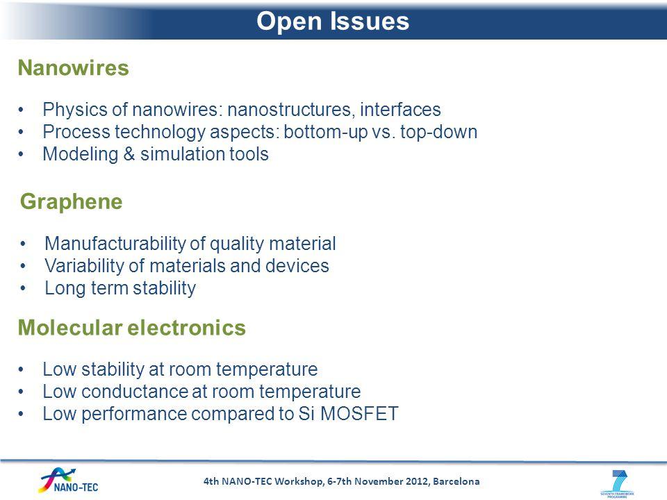 4th NANO-TEC Workshop, 6-7th November 2012, Barcelona
