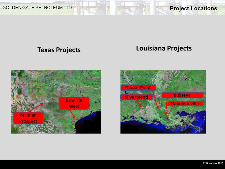 Louisiana Projects Texas Projects