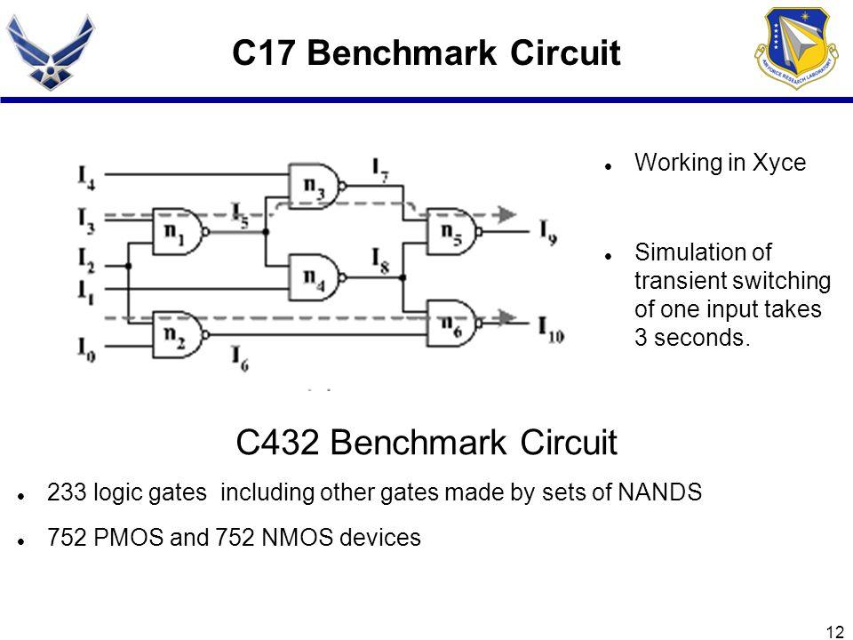 C17 Benchmark Circuit C432 Benchmark Circuit Working in Xyce