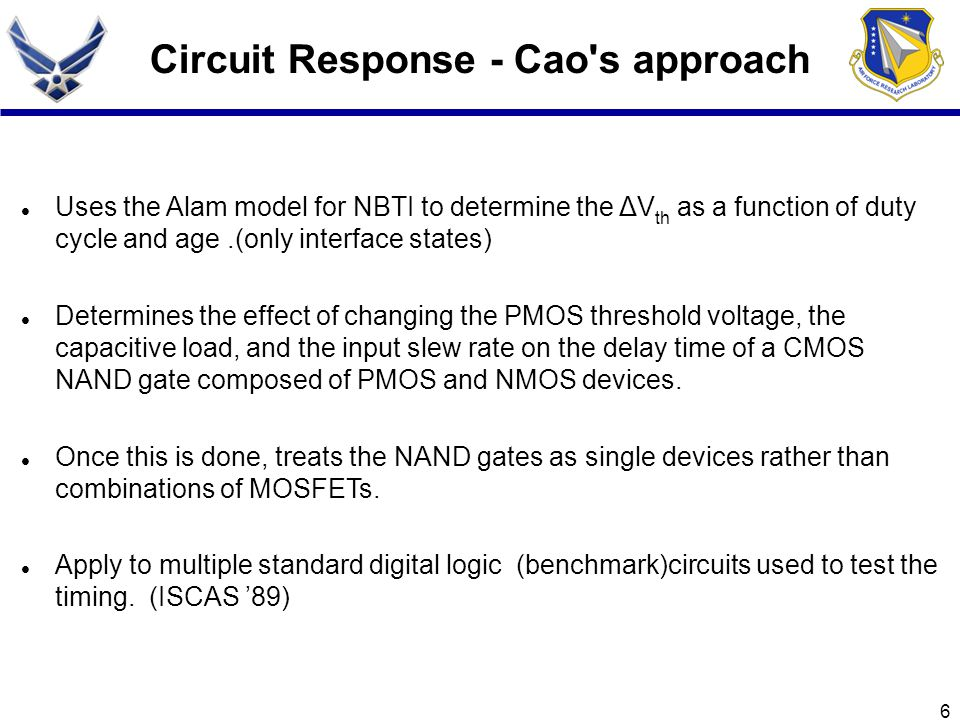 Circuit Response - Cao s approach