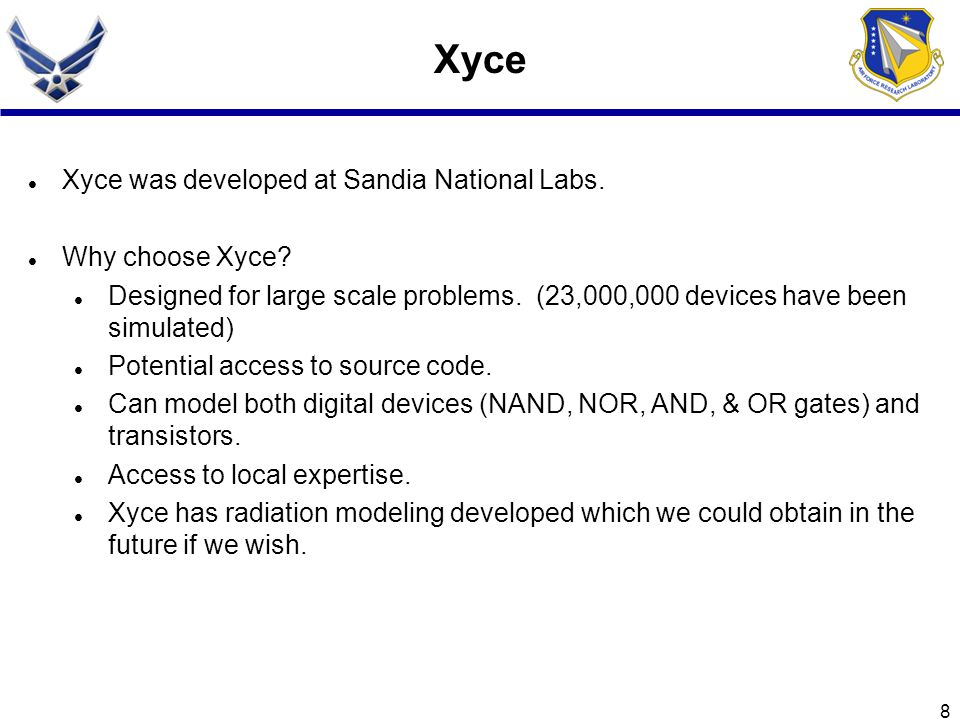 Xyce Xyce was developed at Sandia National Labs. Why choose Xyce