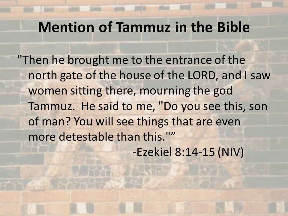 Mention of Tammuz in the Bible