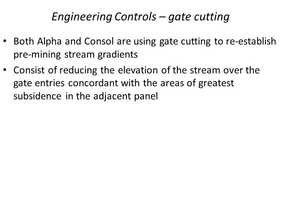 Engineering Controls – gate cutting