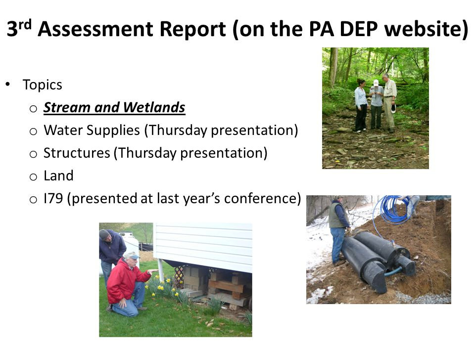 3rd Assessment Report (on the PA DEP website)