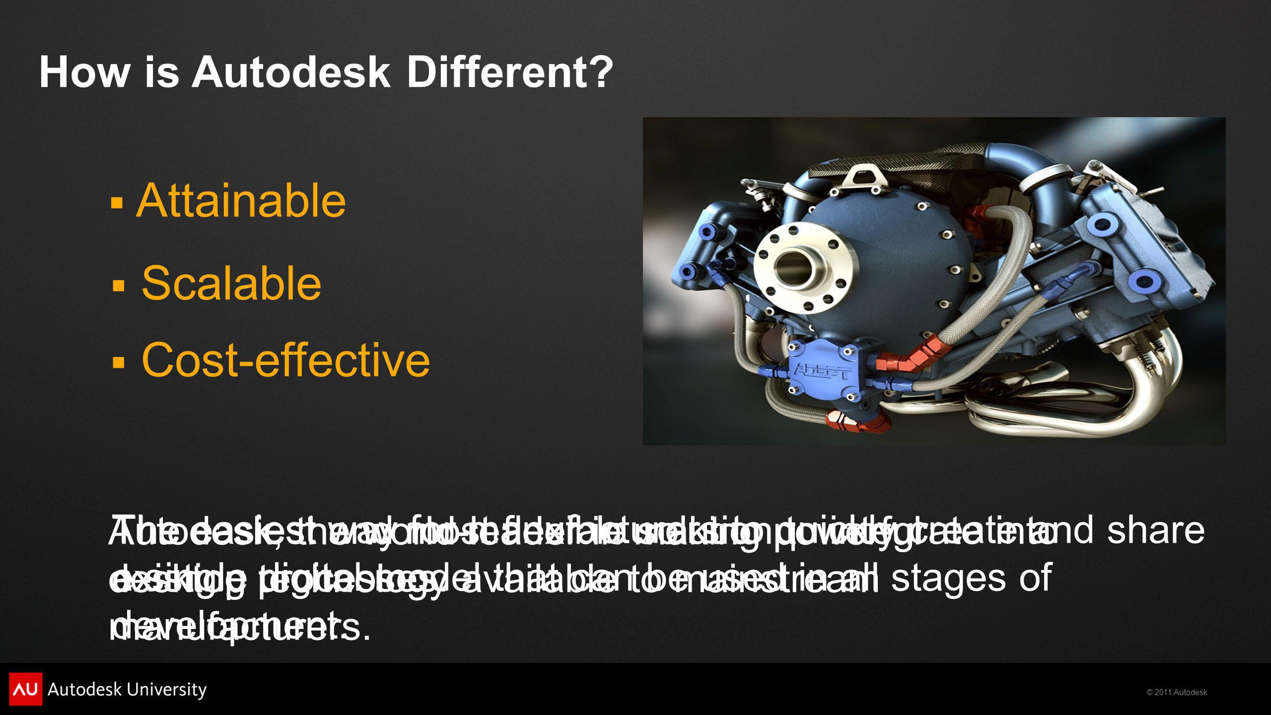 Attainable Scalable Cost-effective How is Autodesk Different