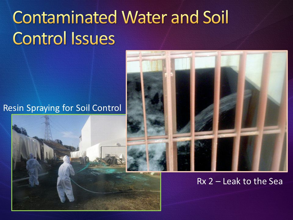 Contaminated Water and Soil Control Issues