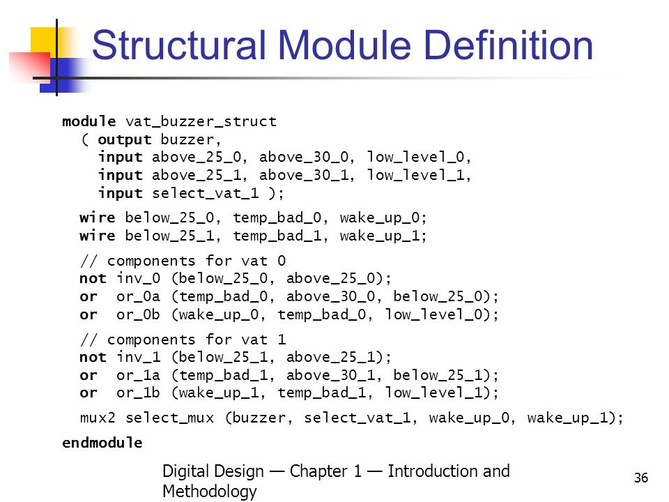 Structural Module Definition