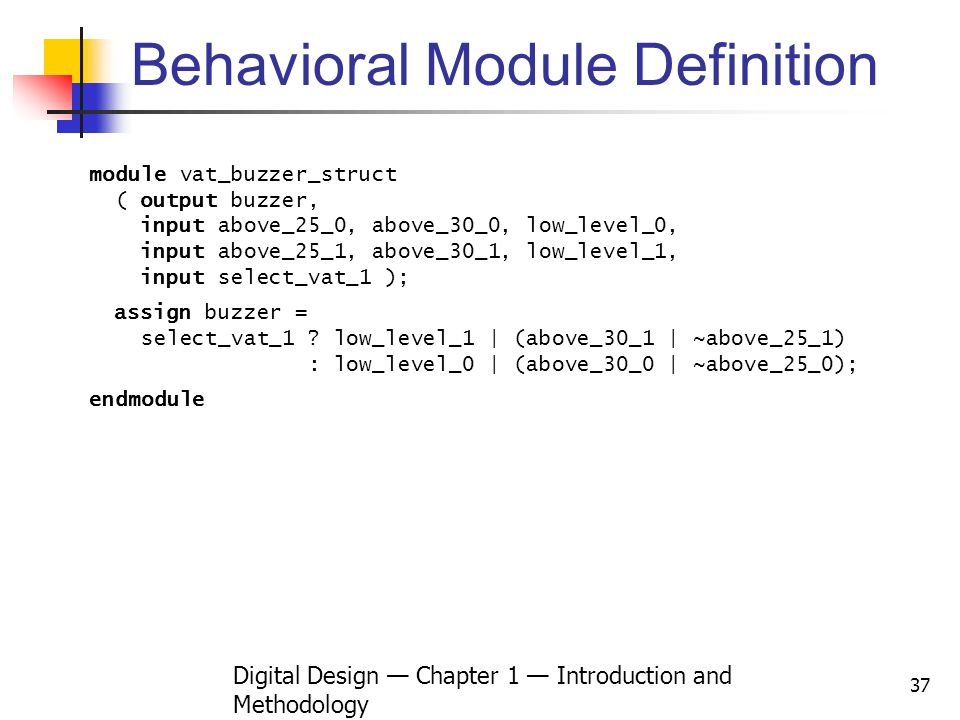 Behavioral Module Definition