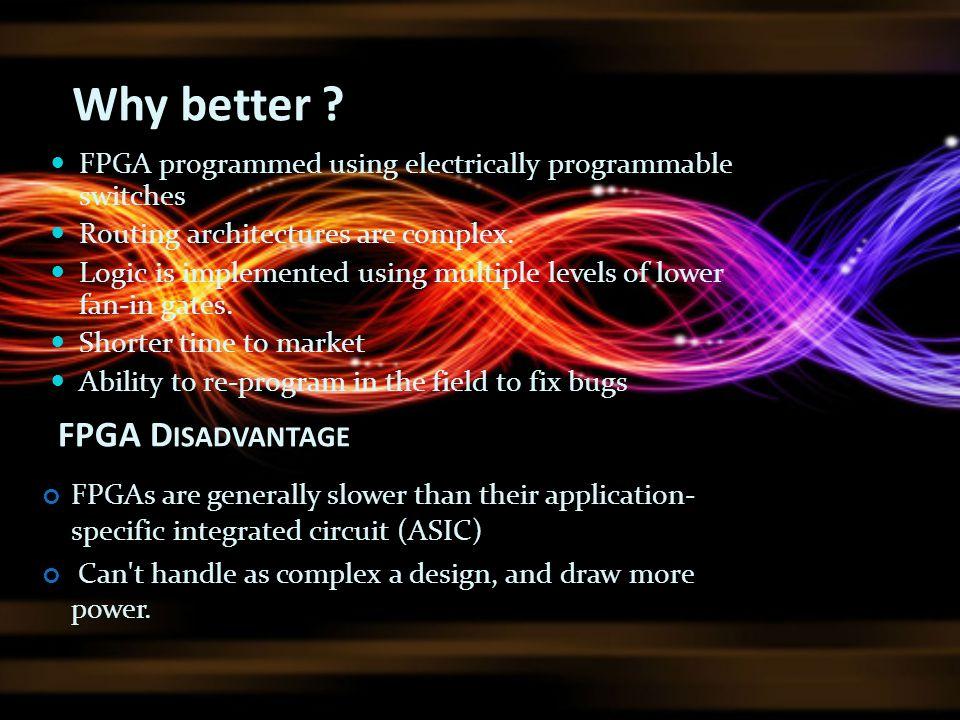 Why better FPGA Disadvantage
