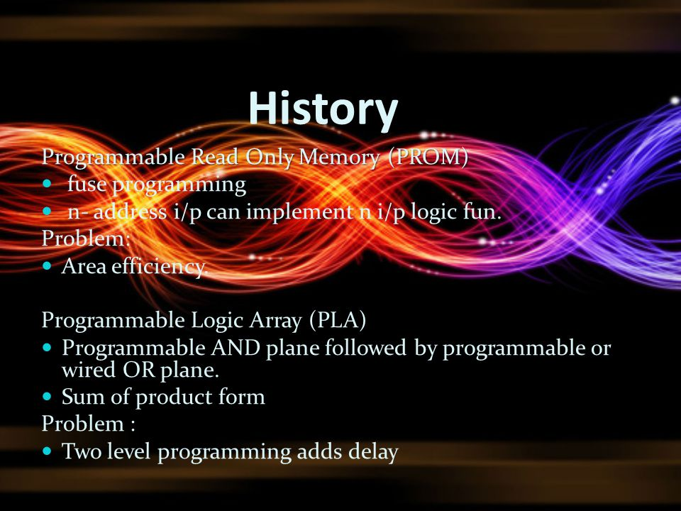 History Programmable Read Only Memory (PROM) fuse programming
