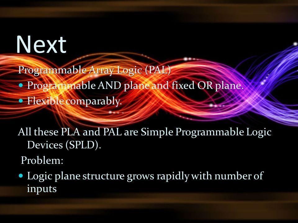 Next Programmable Array Logic (PAL)
