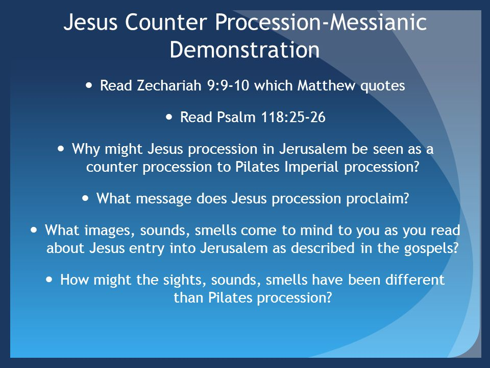 Jesus Counter Procession-Messianic Demonstration