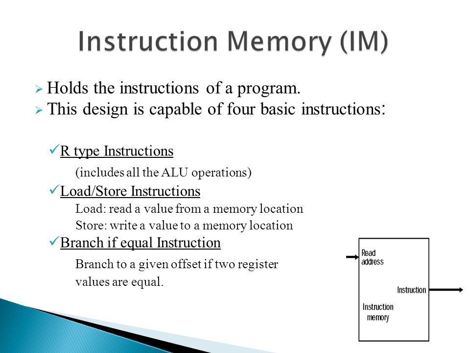 Instruction Memory (IM)