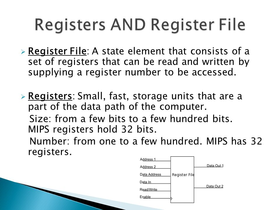 Registers AND Register File