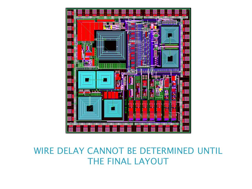 WIRE DELAY CANNOT BE DETERMINED UNTIL THE FINAL LAYOUT