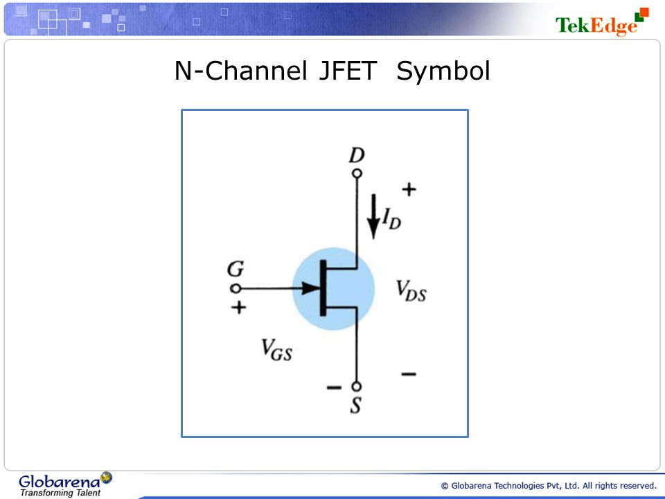 N-Channel JFET Symbol