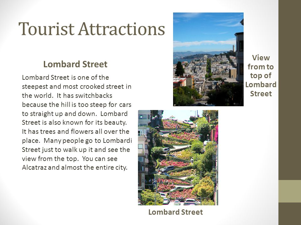 View from to top of Lombard Street