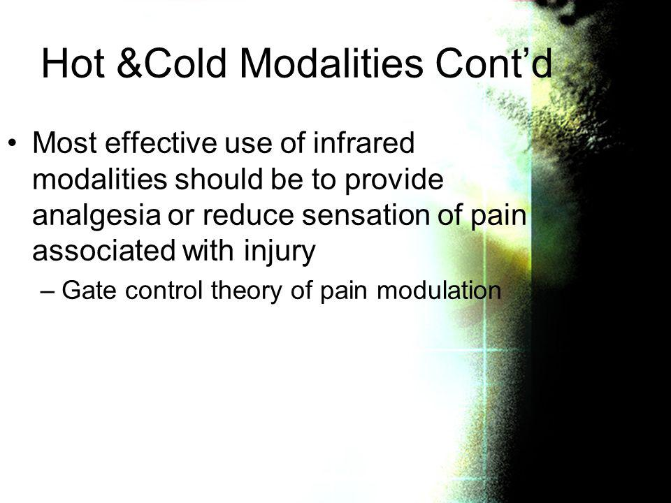 Hot &Cold Modalities Cont'd